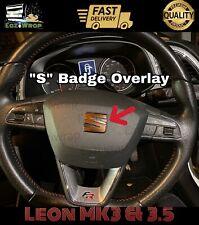 "Eaziwrap Leon MK3 & 3.5 Cupra FR Steering Wheel ""S"" Badge Sticker COPPER / BLACK"
