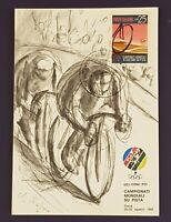 Cartolina MAXIMUM Campionati Mondiali su pista CICLISMO 1968 Roma