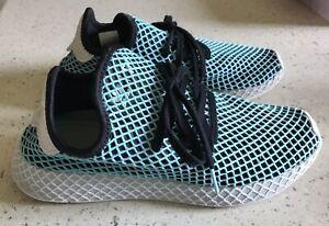 Adidas Originals Deerupt Runner Parley Shoes Men's Size 9- Black/Blue/White