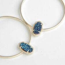 Kendra Scott Elora Statement Earrings In Blue Drusy