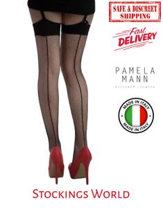 Fishnet Stockings Plus Size Seamed Black XL and XXL Pamela Mann NEW