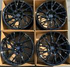 "19"" Lexus RCF Factory Wheels Rims Gloss Black OEM RC-F Set of 4 Staggered"