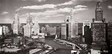 The Skyline Chicago, 1930 Photo Art Print Huge Oversize Poster 54x27
