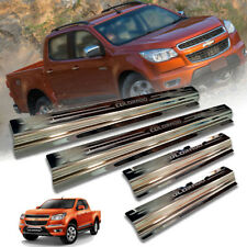 SCUFF PLATE DOOR SILL CHROME FIT FOR CHEVROLET COLORADO 2011-2015