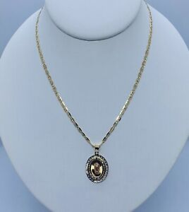 14K Valentino Necklace and 14K Virgin Mary Pendant