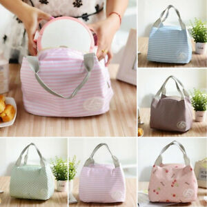 Insulated Lunch Box Bags Portable Woman Men Kids Warmer Picnic Thermal Tote Bag