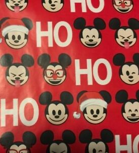 Disney Mickey Mouse Rare Red NoseWrapping Paper 20 sq ft roll-Free shipping note