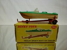 DINKY TOYS 796 HEALEY SPORTYS BOAT ON TRAILER - 1:43 - GOOD IN BOX