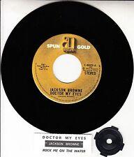 "JACKSON BROWNE Doctor My Eyes 7"" 45 rpm vinyl record NEW + juke box title strip"