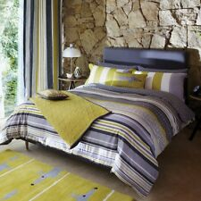 Scion Lace Stripe King Size Duvet Cover in Slate