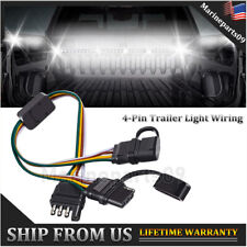 4-Pin Adapter Tow Hitch Y Splitter Dual Plug Harness For Tailgate LED Light