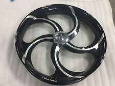 "21"" FRONT WHEEL PACKAGE HARLEY TOURING Outlaw Contrast Five Spoke Twisted Wheel"