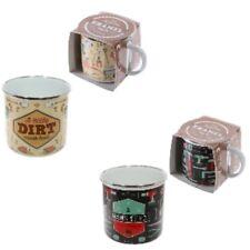 Novelty enamel drinks mug gardening or diy