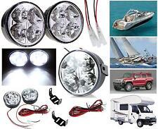 N.2 FARETTO PLAFONIERA N.4 LED BIANCHI 2x2W=4W TOTALI 12V IP68 BARCA AUTO CAMPER