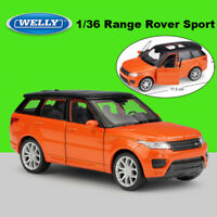 WELLY 1/36 Orange Land Rover Range Rover Sport Collection Diecast Model W/Case
