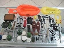 Vintage 1964 Gi Joe Accessories Lot Scuba Boats Hats Guns Exploding Briefcase +