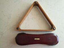 Full sized Snooker Triangle And Brush