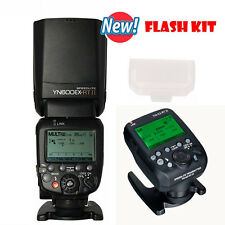 YN600EX-RT II Wireless Flash Speedlite TTL Slave Master for Canon + YN-E3-RT II