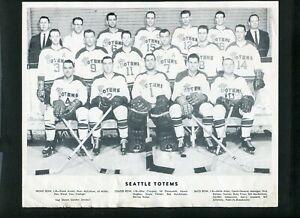 Seattle Totems WHL Hockey Vintage Team Photo 999323