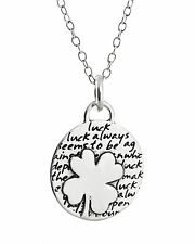Four Leaf Clover Necklace - 950 Sterling Silver Handmade Luck Lucky Shamrock NEW