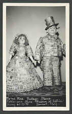 Ca 1950 RPPC* CALIF MR  MRS POSTAGE STAMPS ON DOLLS IN MUSEUM MINT