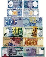 EGITTO - Egypt Lotto 6 banconote 5p/10p/25p/50p/1/5/ pounds FDS - UNC