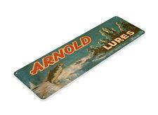 TIN SIGN B652 Arnold Lures Fishing Boat Bait Retro Box Rustic Fish Decor