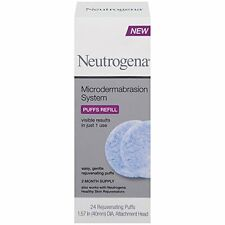 4 Pack - Neutrogena Microdermabrasion System Puff Refills, 24 Count Each