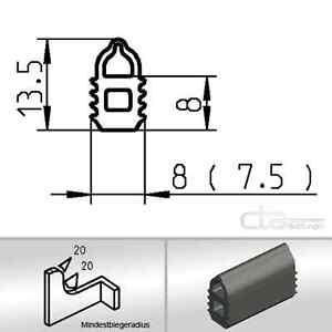 5m Türdichtung Kederband Dichtungsprofil Lippenprofil EPDM  schwarz 1C38-01