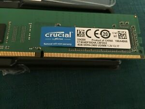 Crucial DDR4-2400 UDIMM 4gb