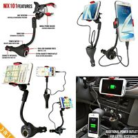 Auto Car Smartphone Dual USB Charger Port with Cigarette Lighter Power Outlet