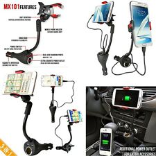 Auto Car Smartphone Dual USB Charger Port with Cigarette Lighter Power Outlet#