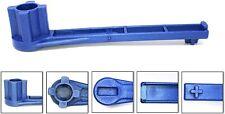 Blue 4-IN-1 Bung Drum Wrench 55-30-15 GAL Water Barrel Nut Cap Plug Gas Shut Off
