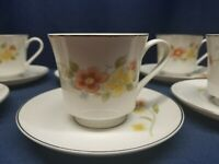 """Vintage """"ANNABELLE"""" Fine China 8 Sets of Cups and Saucers. JAPAN"""