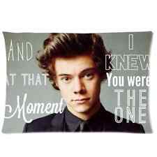 Harry Styles One Direction Pillow Case Cover Protector 20 x 30 Inch One Side