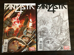 FANTASTIC FOUR #1 1:75 & 1:300 ROSS VARIANT MARVEL COMICS NM