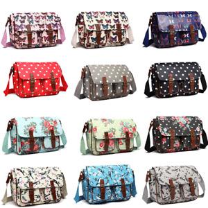 Oilcloth Ladies Shoulder Bag Girls School Messenger Bag Travel Holiday A4 Bag