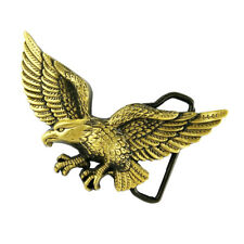 Carved 3D Flying Eagle Pattern Alloy Belt Buckle for Men Cowboy Jean -Bronze