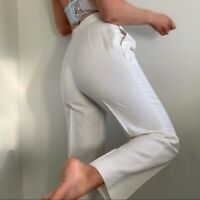 Vintage White High Rise Pleat Front Pant Trouser s