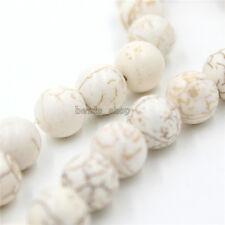 1strings New White Gemstones Natural Turquoise Loose Beads Boutique Gifts BS