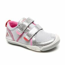 Shiny Silver/ Pink Sneakers PLAE Shoes  Little Girls Size 9