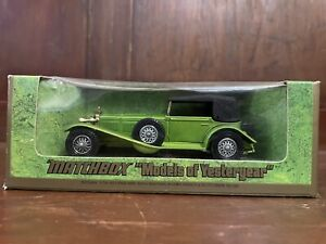MATCHBOX LESNEY MODELS OF YESTERYEAR 1928 MERCEDES SS Y-16 GREEN IN BOX