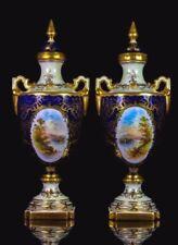 Porcelain/China Vase Blue Coalport Porcelain & China