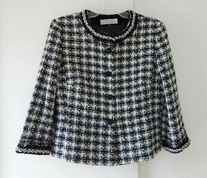 TAHARI ARTHUR LEVINE jacket blazer nubby beaded pearl career business large 12