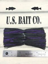 Bass Jig Skirts Living Rubber Lot Of 10 Color Black And Purple