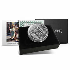 Celtic Lore Antiqued PROOF #1 MERLIN 1 oz. .999 silver COA Fantasy Wizard Magic