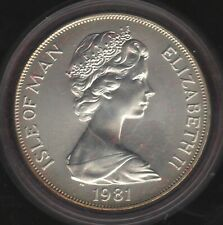 More details for 1981 isle of man silver crown coin in capsule   british coins   pennies2pounds