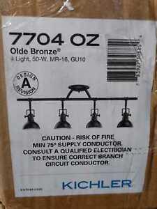 Hatteras Bay 2.65 ft. 4-Light Olde Bronze Track Lighting Kit by KICHLER