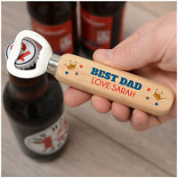 PERSONALISED Best Dad Birthday Bottle Opener Gifts for Daddy Dad Grandad