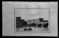 TORINO:VEDUTA CITTA,PONTE DI PIETRA O  VITT.EMANUELE=LEMAITRE.ITALIA.Artaud.1835